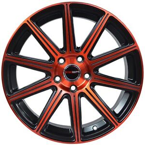 4 Mod 18 Inch Red Rims Fits 5x114 3 Et40 Hyundai Veloster 2012 2017