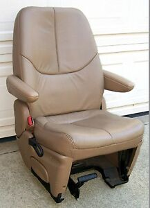 1996 2000 Leather Tan Driver S 2nd Row Seat Chrysler Dodge Plymouth Minivan