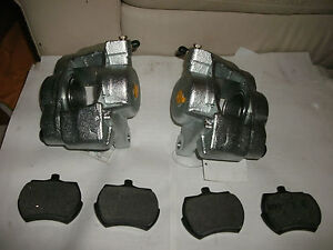 Mg Midget austin Healey Sprite Set 2 New Front Brake Calipers W Pads 65 80