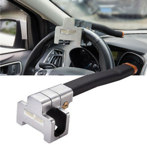 Universal Car Top Mount Steering Wheel Anti Theft Security Lock Safe Devices