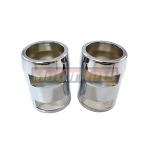 Chrome Radiator Hose Cover Cap Pair Aluminum 1 3 4 Universal Hot Street Rod