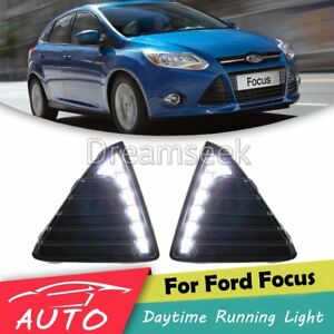 Car Drl For Ford Focus 2012 2013 2014 Led Daytime Running Light Fog Driving Lamp