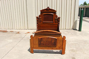 Charming Walnut Victorian Renaissance Revival Youth Bed Ca 1870