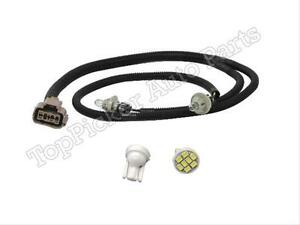 For 1999 2007 Silverado Rear License Plate Lamp Harness With Led White Bulb Set