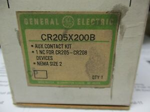 Ge Cr205x200b Auxiliary Contact Kit Size 2 Starter New