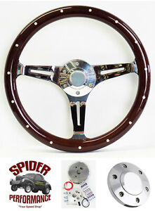 1967 1968 Firebird Tempest Grand Prix Gto Steering Wheel 15 Dark Wood Mahogany