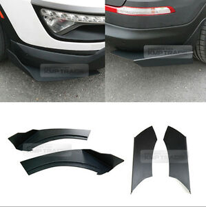 Canard Front Rear Cup Wing Body Kit Matte Black For Kia 2011 12 13 Sportage R