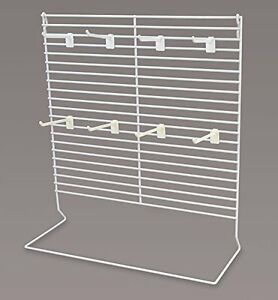 Large White Countertop Peg Display With 4 Plastic Peg Hooks 18 w X 7 5 d X 20 h