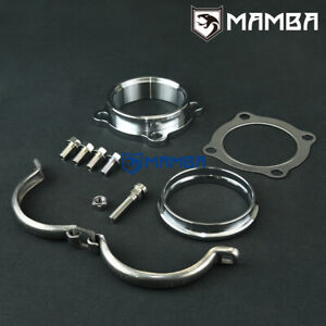 Mamba Garrett Gt30r Gt35r 4 Bolt Turbo Down Pipe To 3 V band Flange Adapter
