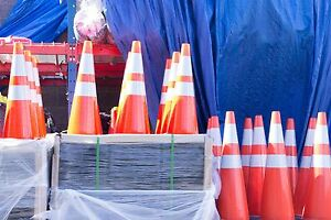 150 Wholesale 28 Traffic Safety Cones With Two Reflective Collars Pick Up Only