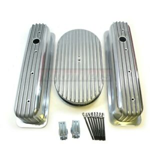 Small Block Chevy Aluminum Engine Dress Up Kit Centerbolt Valve Cover Air Cleane