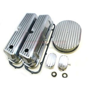 Ford Polish Fin 62 85 Sbf Aircleaner Engine Dress Up Kit 289 302 351w Smallblock
