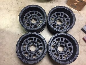 16x8 Weld 16 Mountain Crusher Super Single Rims Wheels Set Of 4 5x5 5 5x139 7