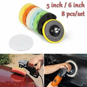 5 6 7 Polishing Sponge Waxing Buffing Pads Compound Auto Car Polisher Drill