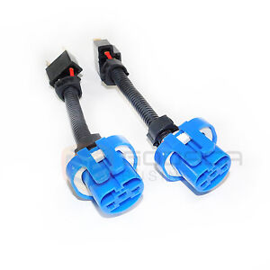 2x H4 9003 To 9007 Hb5 Headlight Wiring Conversion Adapter Plug