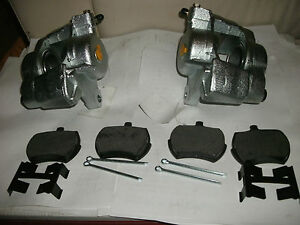 Mg Midget austin Healey Sprite Set 2 New Front Brake Calipers W Pads