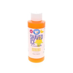 Banana Hawaiian Shaved Ice And Snow Cone Flavor Concentrate 4 Fl Oz Unsweetened