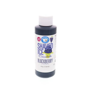 Blackberry Hawaiian Shaved Ice And Snow Cone Unsweetened Flavor Concentrate 4 Oz