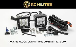 Kc Hilights C Series Cree C3f Led Flood Beam 1080 Lumens 2820 Lx Off Road Lights