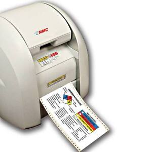 New National Marker Co cpm100 Multi color Die Cutting Sign Label Printer
