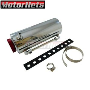 3 x8 Chrome Aluminum Radiator Reservoir Catch Tank Coolant Overflow Can Chevy