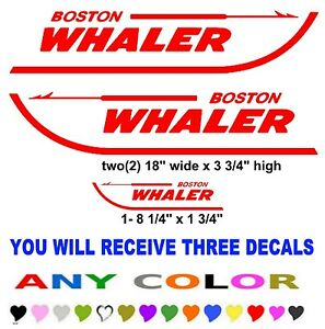 Boston Whaler Boat Stickers Decals Any Color Fish Fishing