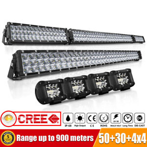 54inch 3150w Led Light Bar Combo 32 4 Cube Pods Offroad Suv For Ford 52 30