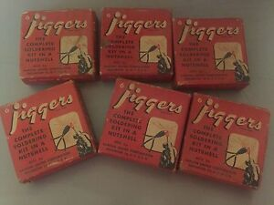 Lot Of 6 Vintage Advertising Jiggers Complete Soldering In A Nutshell Unused