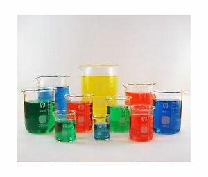 10 Piece Glass Beaker Set 25ml 50ml 100ml 150ml 200ml 250ml 3 Free Shipping