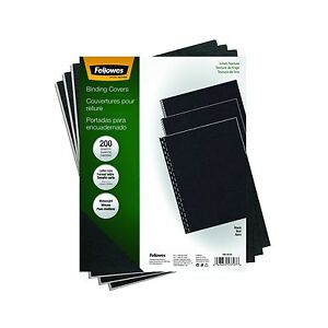 Fellowes Binding Linen Presentation Covers Letter Black 200 Pac Free Shipping