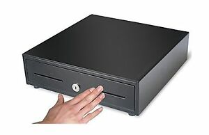 Heavy Duty Compact 13 Black Manual Push open Cash Drawer With Free Shipping