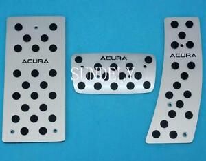 Aluminum At Foot Pedals Rest Fit For Acura Rl Rlx Tl Tsx Automatic 2009 2012