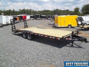 Special102 X 24 Ft Deckover Equipment Bobcat Trailer 14000 Gvwr 8x24 Heavy Duty