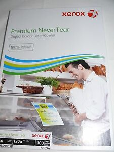 Xerox Premium Never Tear A4 Waterproof Paper 95 120 Or 195 Micron 100 Sheets