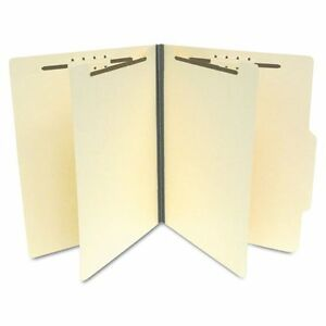S59700 Sj Paper Economy Classification Folders Ltr 6 Fasteners 5bx ct Manila