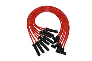 A team Bbc Chevy 396 402 427 454 502 Hei Red 8mm Spiral Core Spark Plug Wires Rd