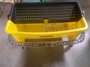 Rubbermaid Fgq90088 Mop Bucket And Wringer 28 Qt Yellow blk
