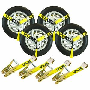 Tire Harness Kit With Flat Hook Ratchets Tow Truck Wrecker Car Hauler