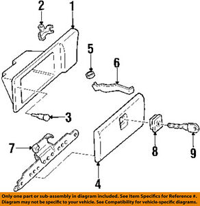 Gm Oem Glove Compartment Box Hinge 10268579
