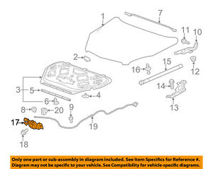Gm Oem Hood lock Latch 23120089