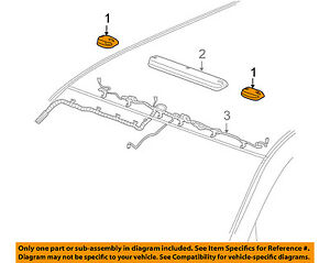 Gm Oem Roof Lamps roof Lamp Assembly Right 22956990