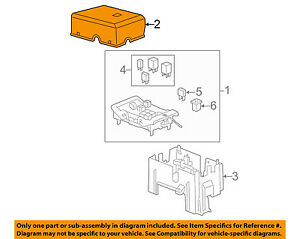 Gm Oem Fuse Relay Box upper Cover 25815385