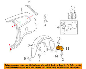 Gm Oem Quarter Panel Extension Panel Right 25830934