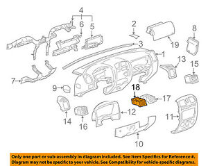 Gm Oem Dash Air Vent Ac A C Heater Duct Outlet Louvre Left 15171983