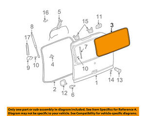 Gm Oem Liftgate Tailgate Hatch Seal 15768195