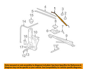 Gm Oem Wiper Washer windshield wiper Arm Right 15829647