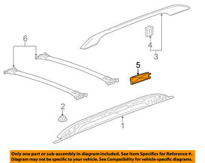 Gm Oem Roof Rack Rail Luggage Carrier rear Cover Right 20983990