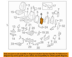 Gm Oem Front Seat lumbar Support 20987409