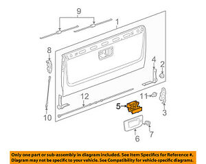 Gm Oem Tail Gate Tailgate Hatch handle 20955300