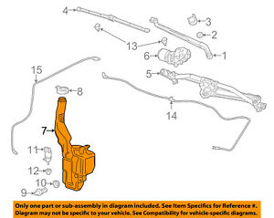 Gm Oem Windshield Wiper Washer reservoir Tank Bottle 23283669